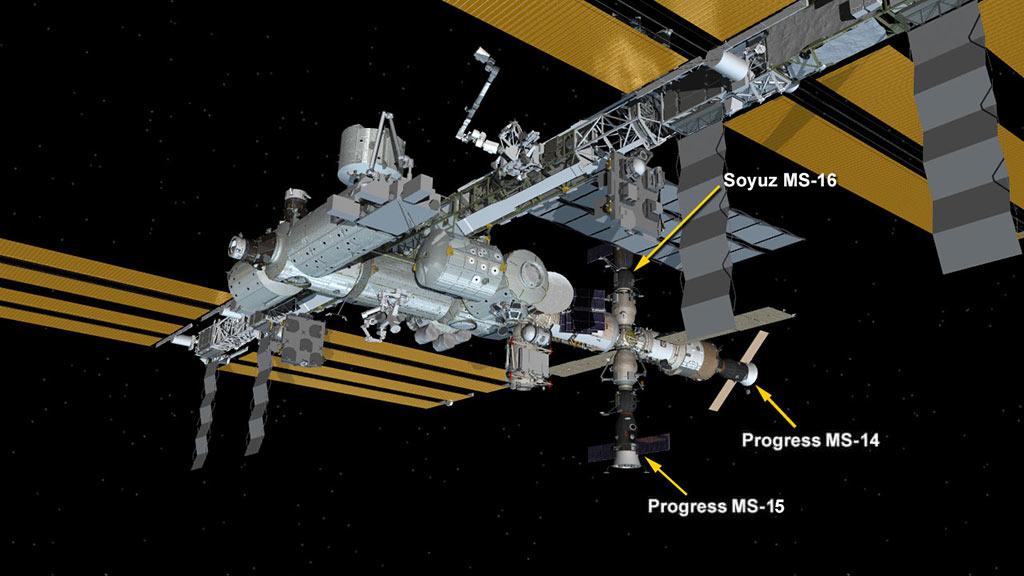 Configuración de la EEI a la partida del Kounotori 9 – NASA