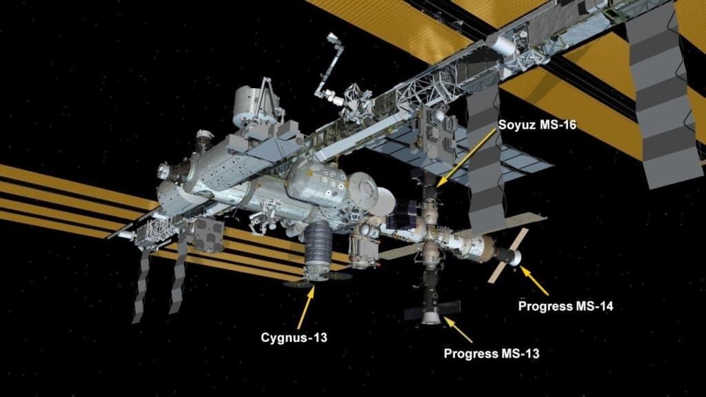 Configuración de la EEI el 25 de abril de 2020 – NASA