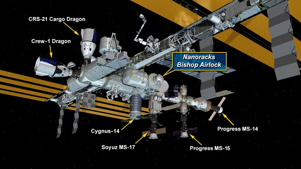 La EEI con Bishop instalado – NASA