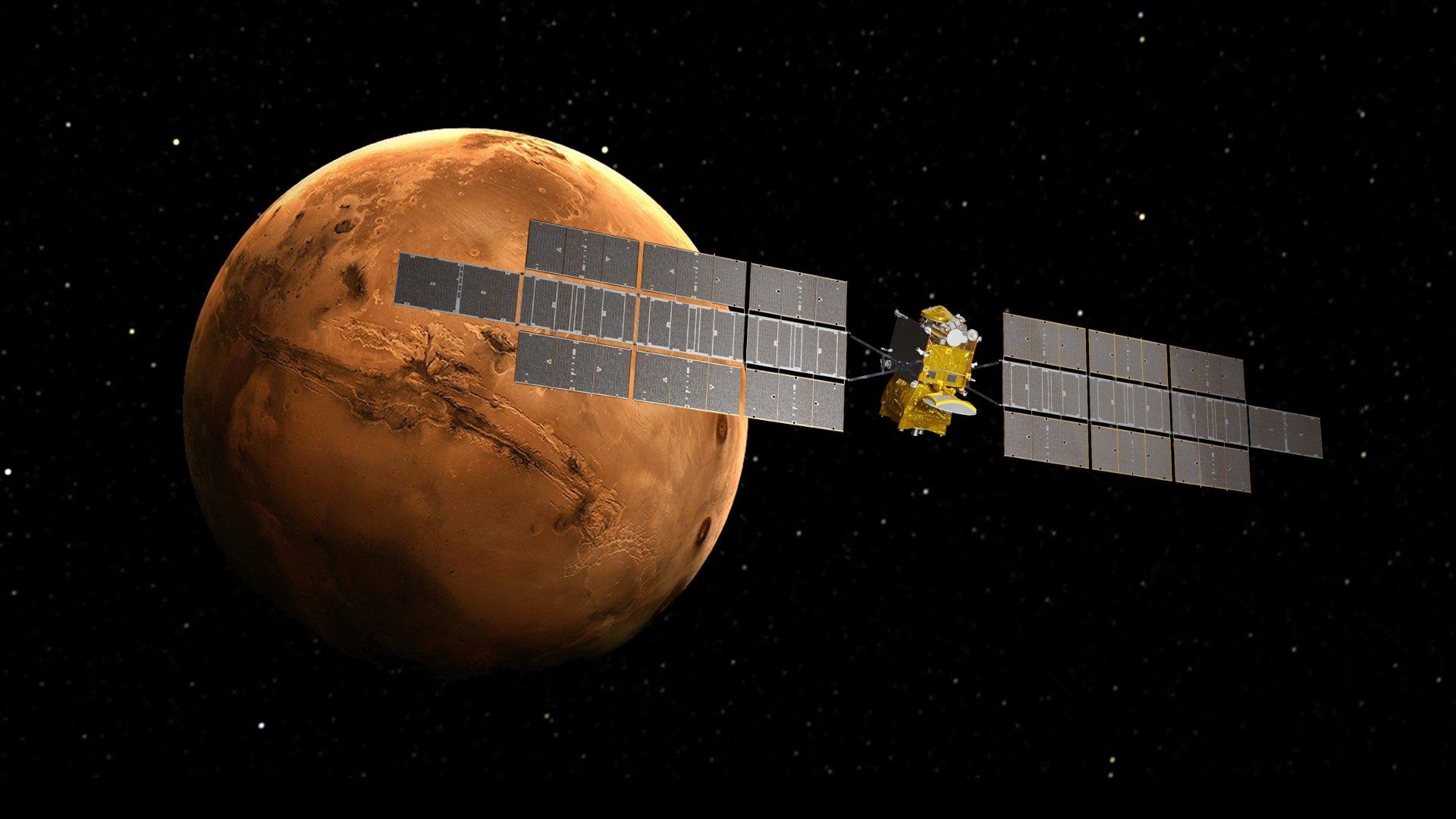 Impresión artística del ERO en órbita alrededor de Marte - Airbus