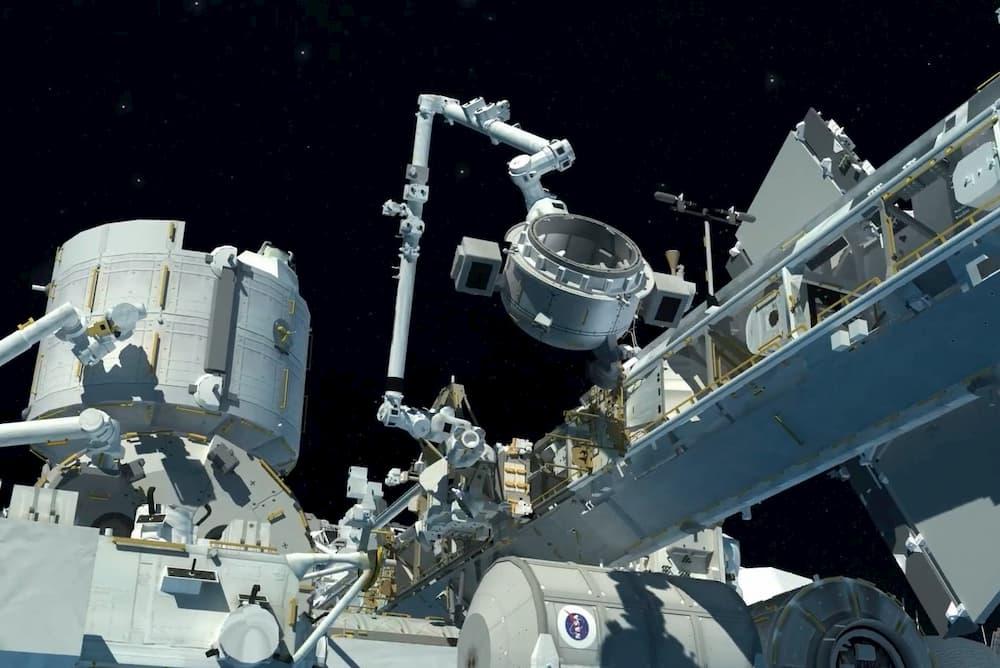 La esclusa Bishop en uso - NASA