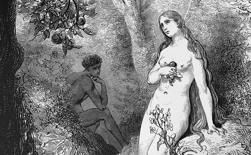 Eva tentada por la serpiente / Gustave Doré
