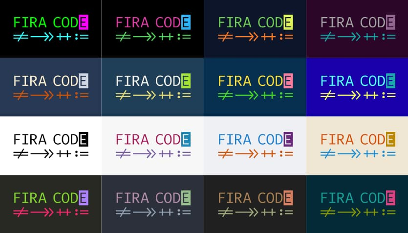 tonsky/FiraCode: Free monospaced font with programming ligatures