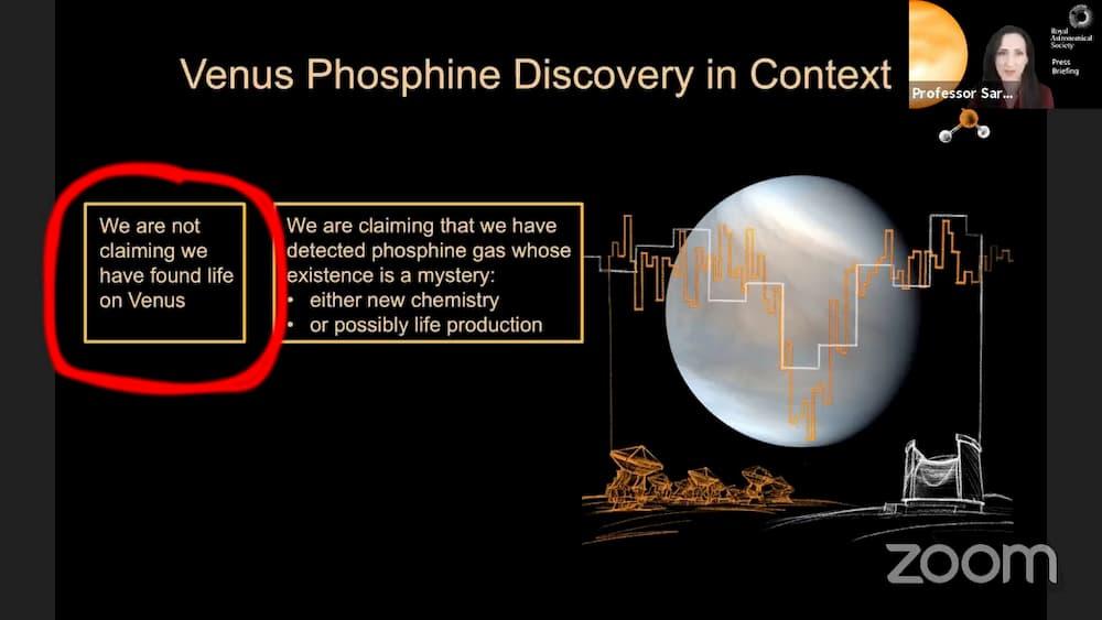 No estamos diciendo que hayamos encontrado vida en Venus