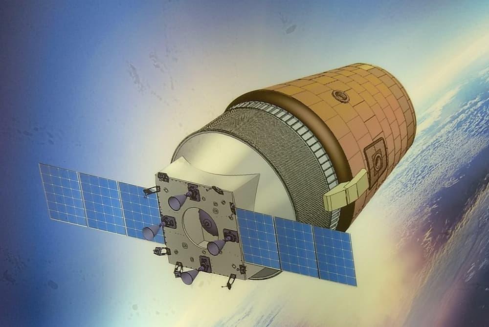 Impresión artística de una Gaganyaan en órbita - ISRO