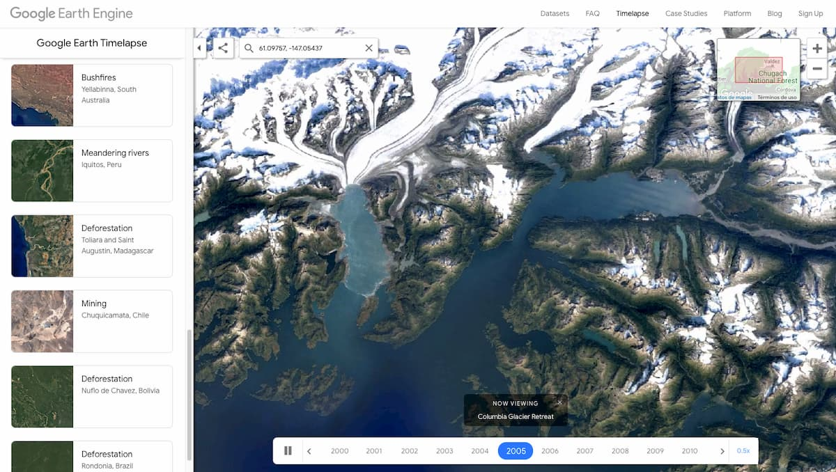 Timelapse – Google Earth Engine