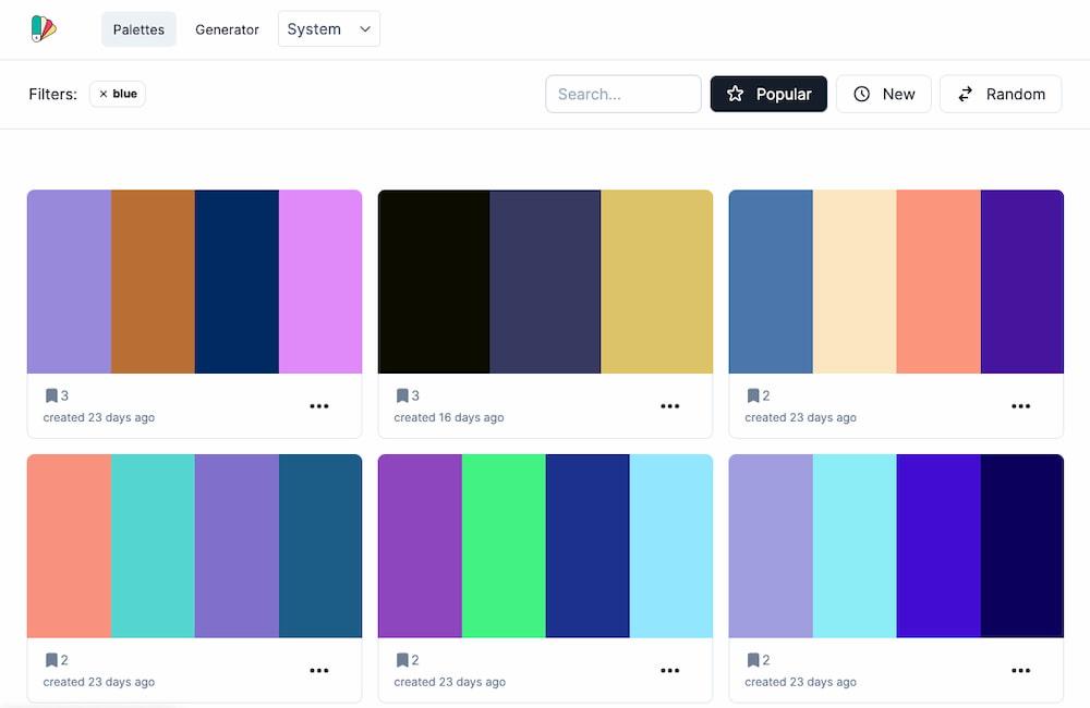 HexPalette: un generador de paletas de colores para compartir en comunidad