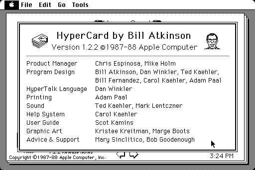 HyperCard  About