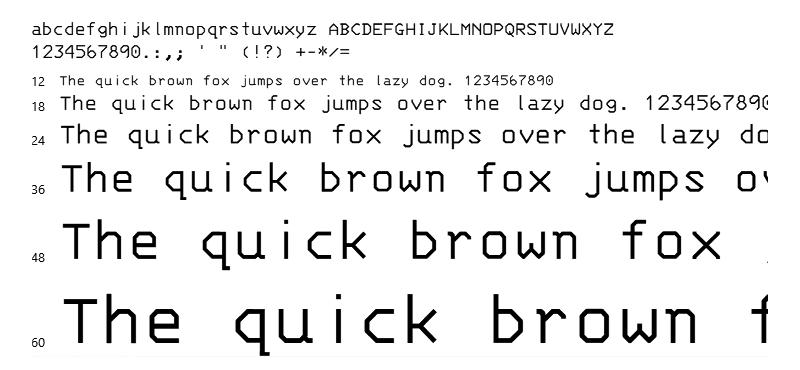 IBM 3270 Font