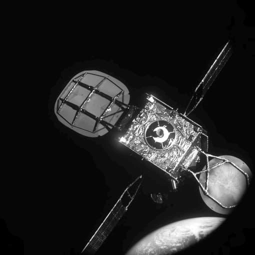 El Intelsat 901 visto dese el MEV-1 antes del acoplamiento - Northrhop Grumman
