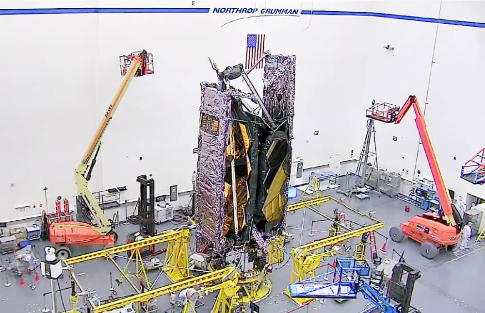 El JWST en configuración de lanzamiento – Northrop Grumman