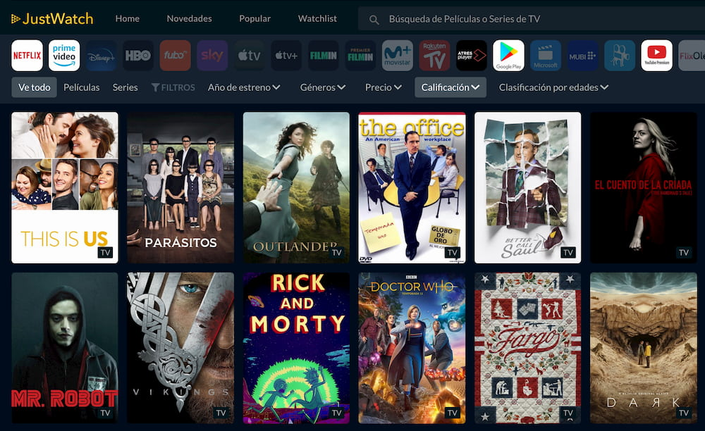 JustWatch - Ver Películas y Series Online
