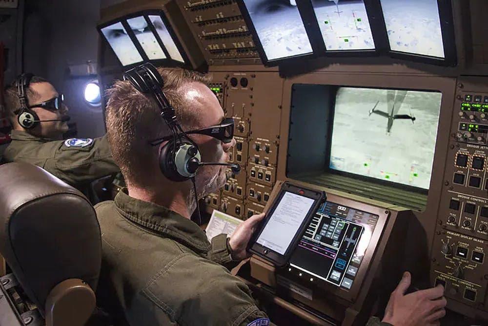 Puesto de control del sistema de repostaje - USAF