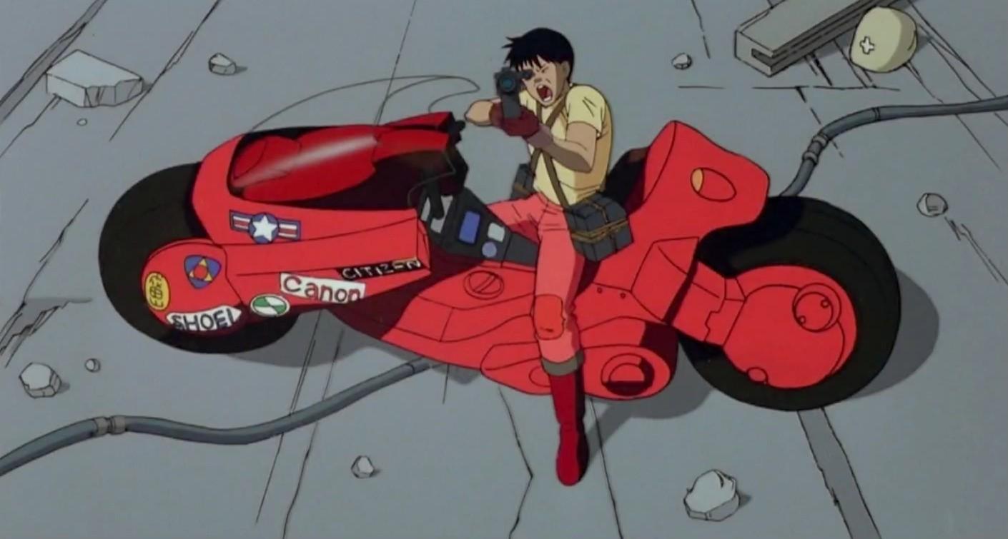 Moto de Kaneda en Akira / James Qiu
