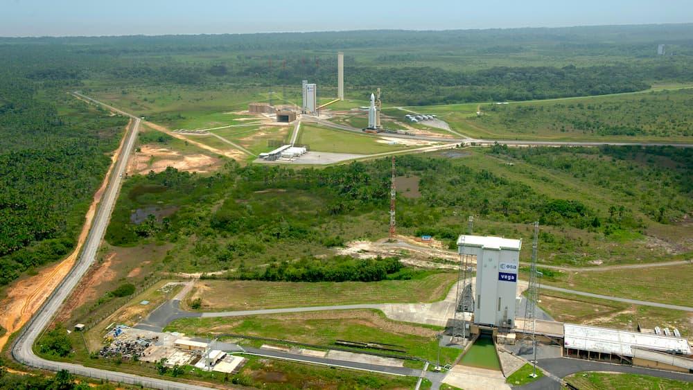 Vista aérea de Kourou - ESA