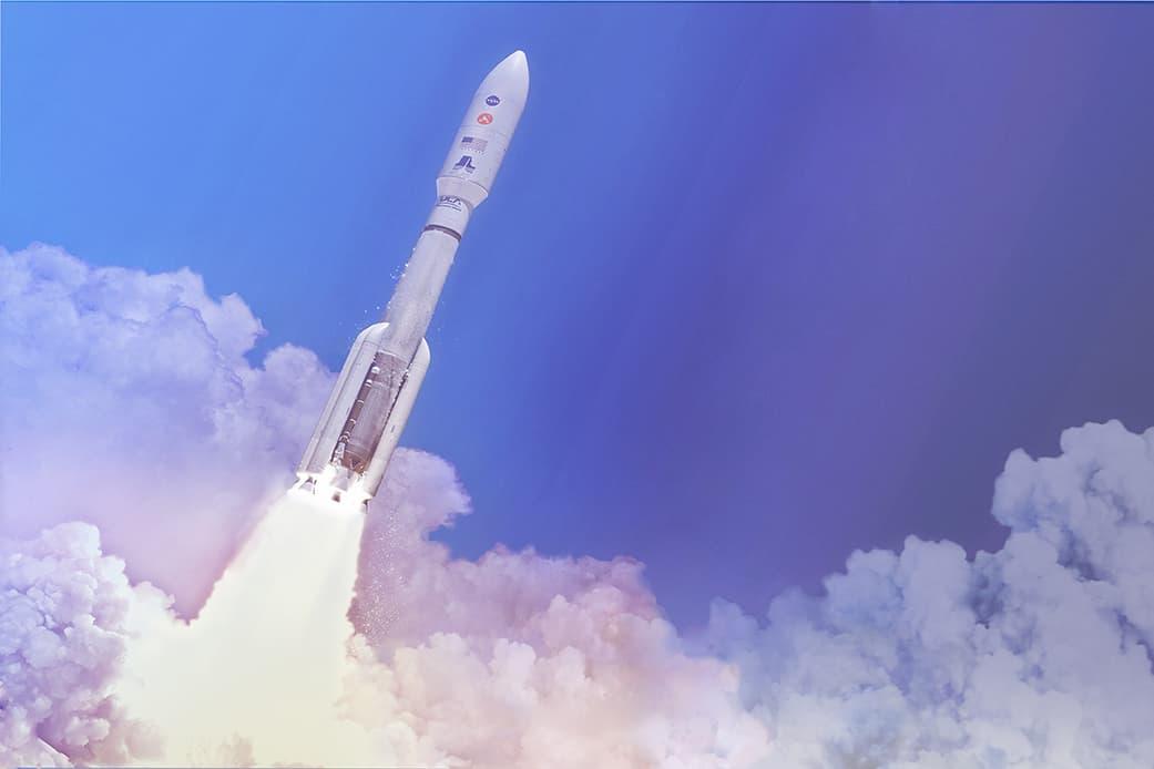 Impresión artística del lanzamiento de Perseverance – NASA/JPL-Caltech
