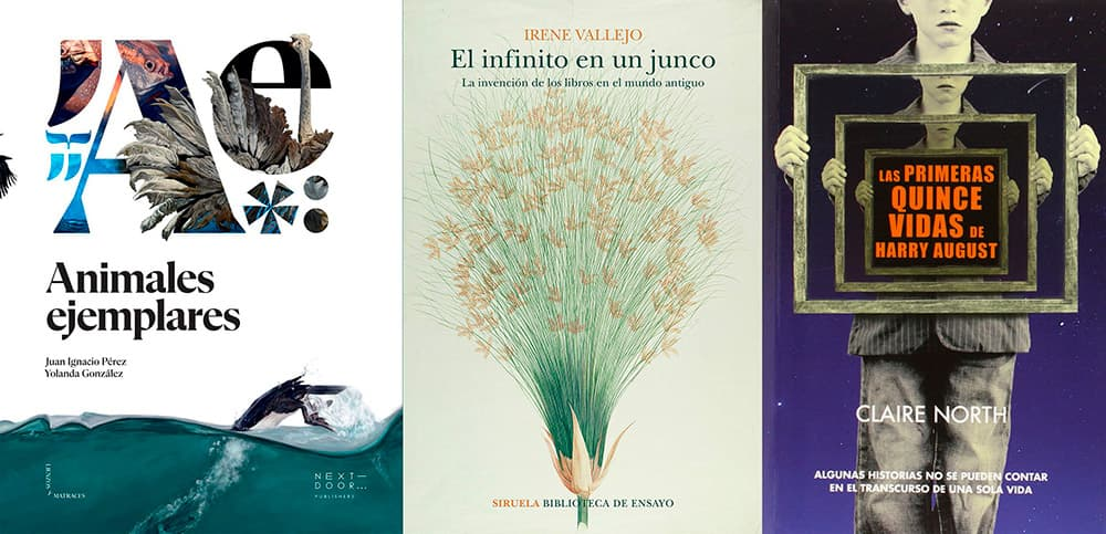 Las portadas de los libros