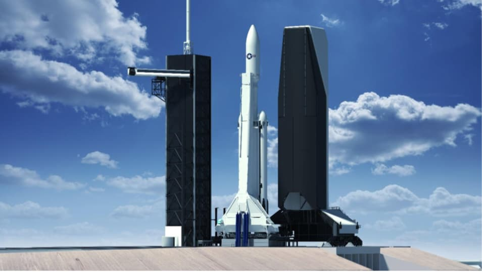 La futura torre de servicio del Complejo de lanzamiento 39A – vía FAA