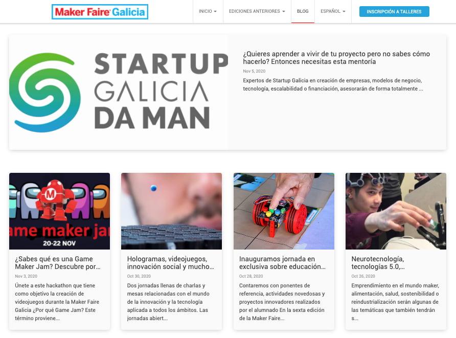 Maker Faire Galicia: del 18 al 22 de noviembre, online