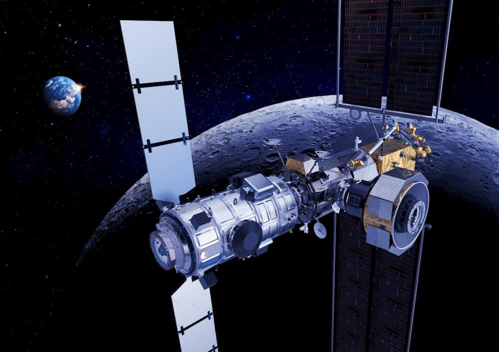Impresión artística de la estación orbital lunar - Thales Alenia Space
