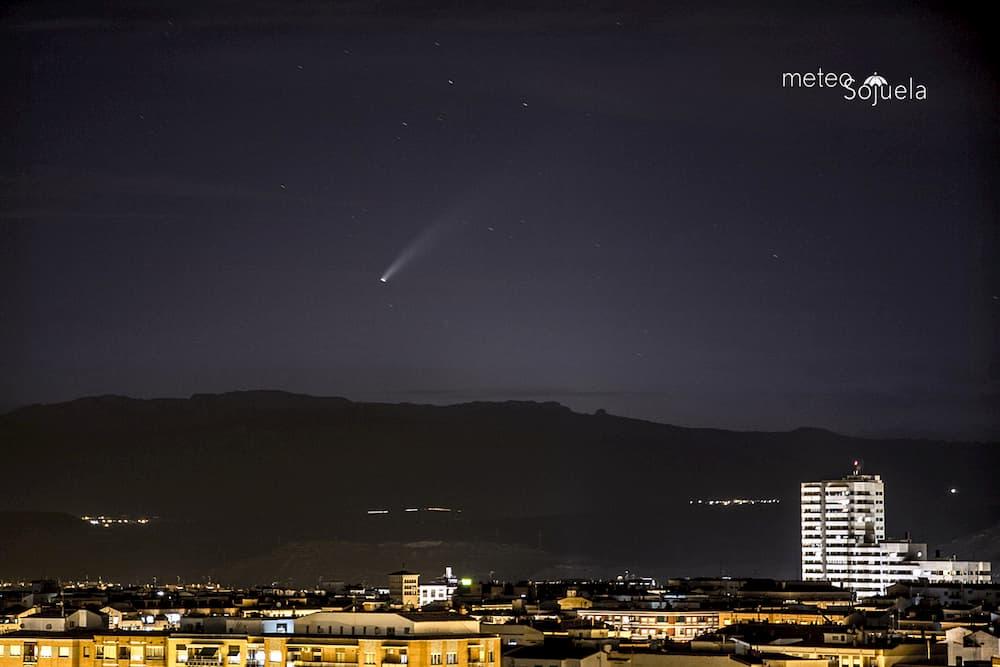 Neowise por la tarde desde Logroño – MeteoSojuela