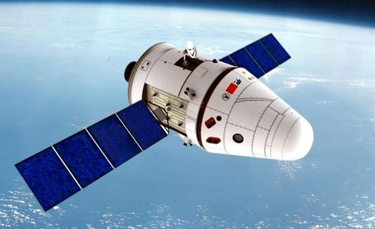 Impresión artística de la nueva nave en el espacio - CNSA