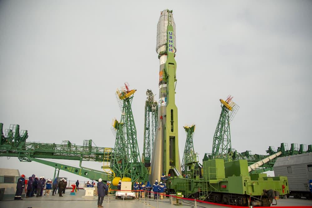 El cohete en la plataforma