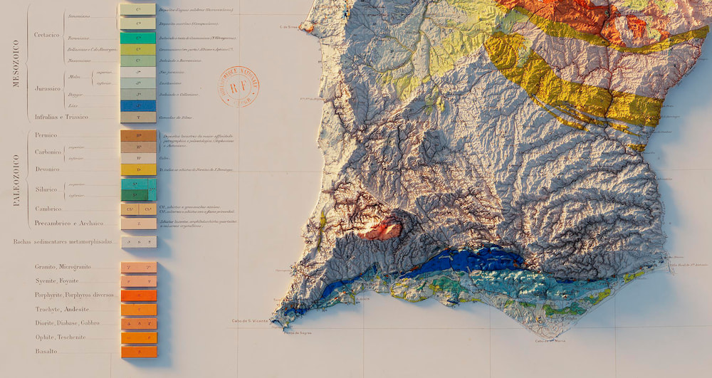 Carta Geologica de Portugal (1899) / Sean Conway