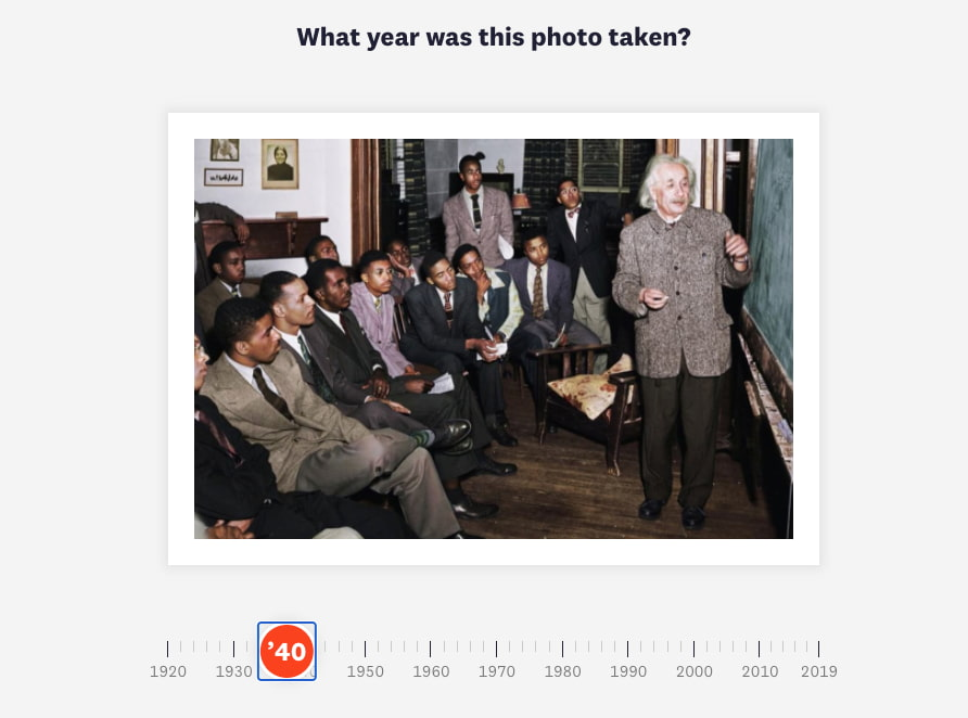 Photo quiz: This is an experiment about how we view history