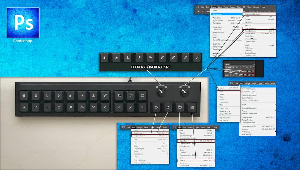 Teclado teclado DIY para Photoshop