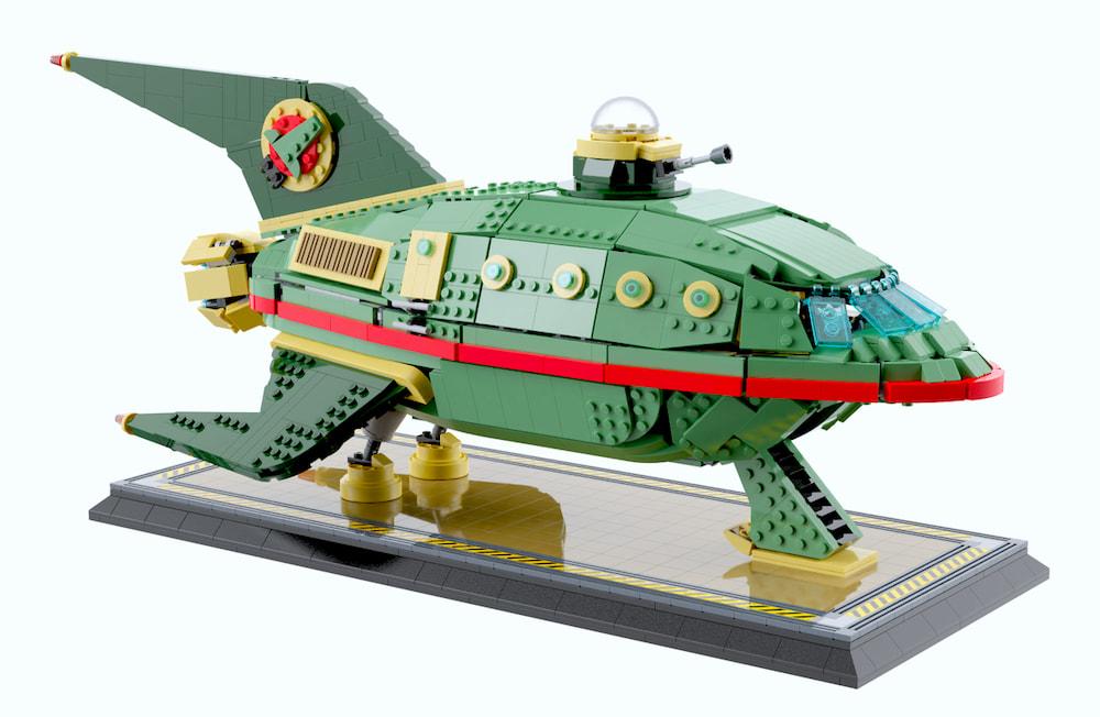 La nave espacial de Planet Express de Futurama, versión Lego