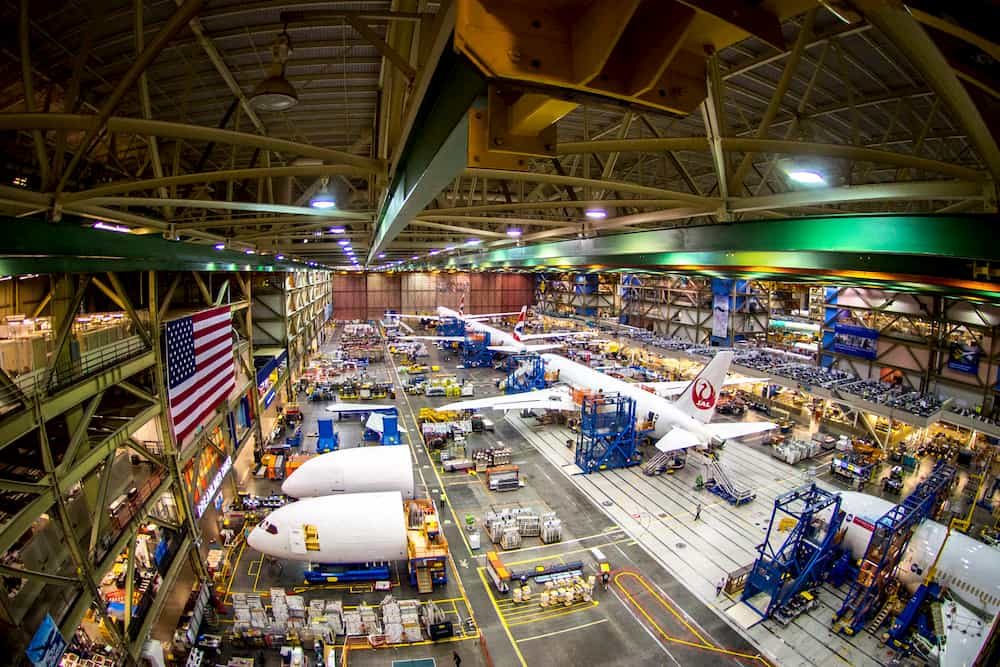 Planta de ensamblado del 787 en Everett – Boeing