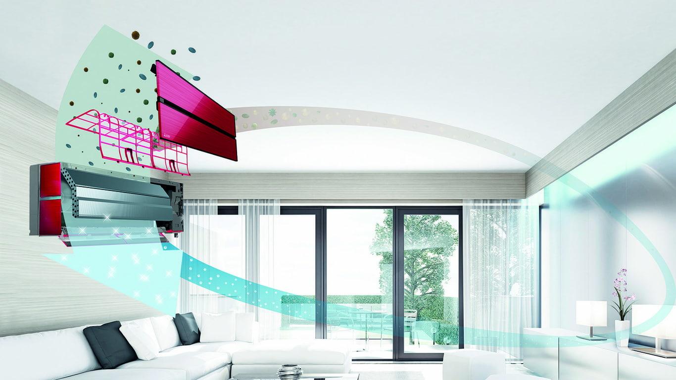 MSZ-LN Kirigamine Style con filtro virus Plasma Quad Plus - Mitsubishi Electric