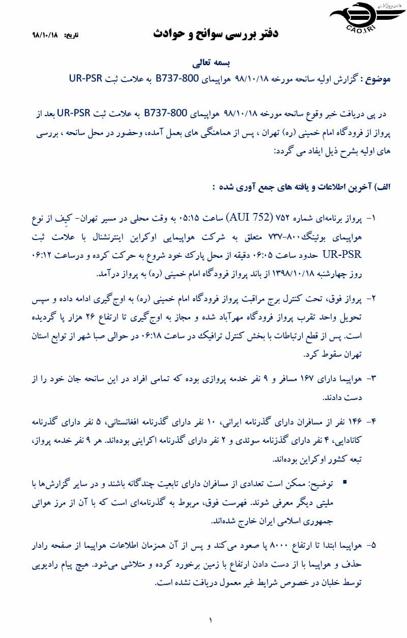 Portada del informe - CAO Irán