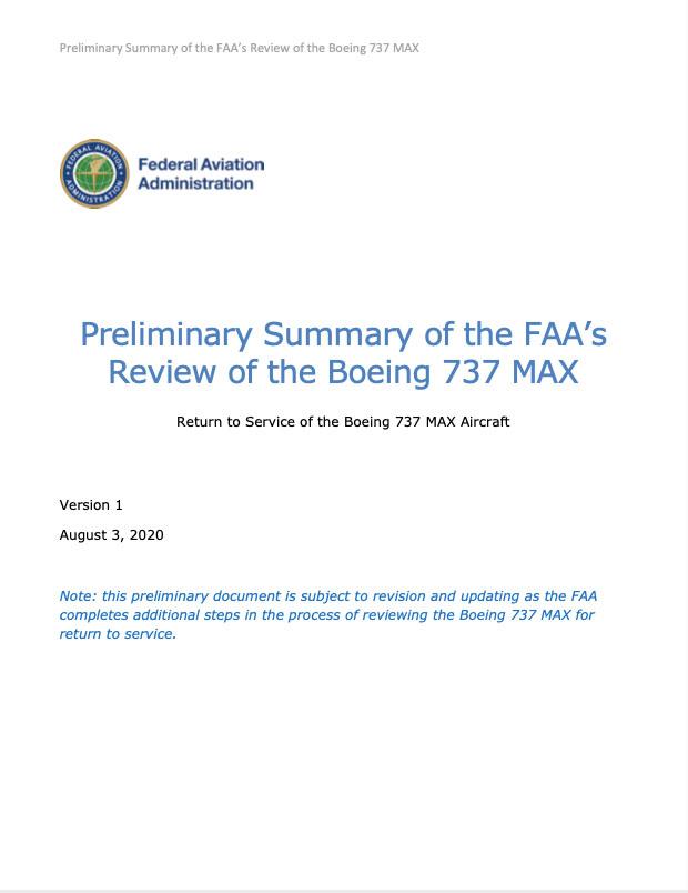 Portada de la propuesta – FAA