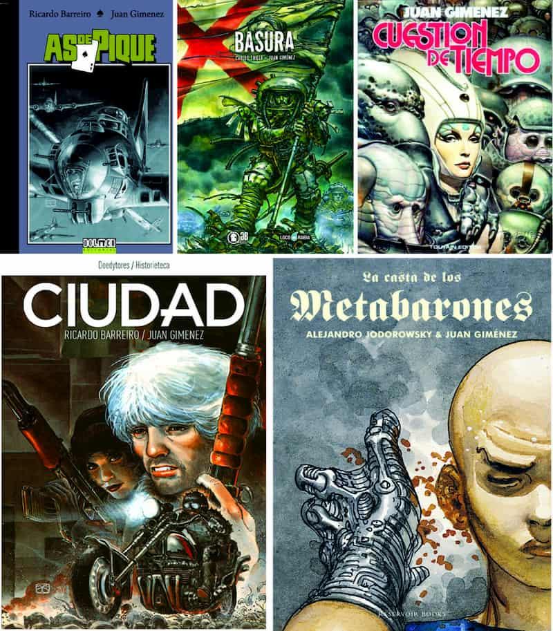 Portadas de algunas obras de Juan Gimérez y Ricardo Barreiro