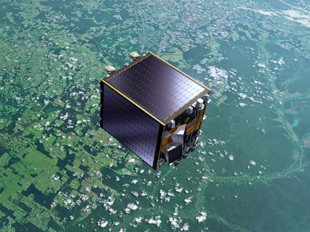 Impresión artística del Proba-V en órbita - ESA-P.Carril
