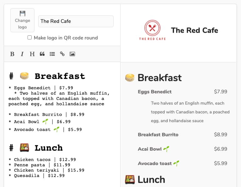How to Make Your Restaurant or Bar Menu in a QR Code — QR Menu Creator
