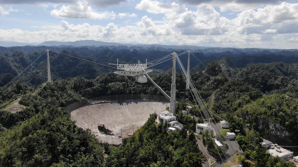 El radiotelescopio de 305 metros de Arecibo en noviembre de 2020  - Universidad de Florida Central