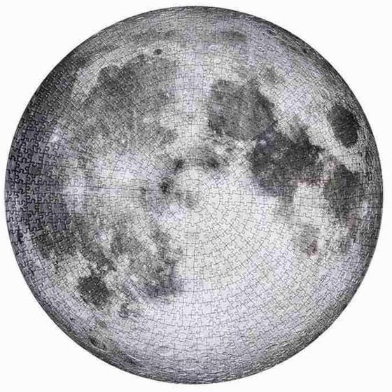 Rompecabezas redondos de la Luna, la Tierra y otros planetas