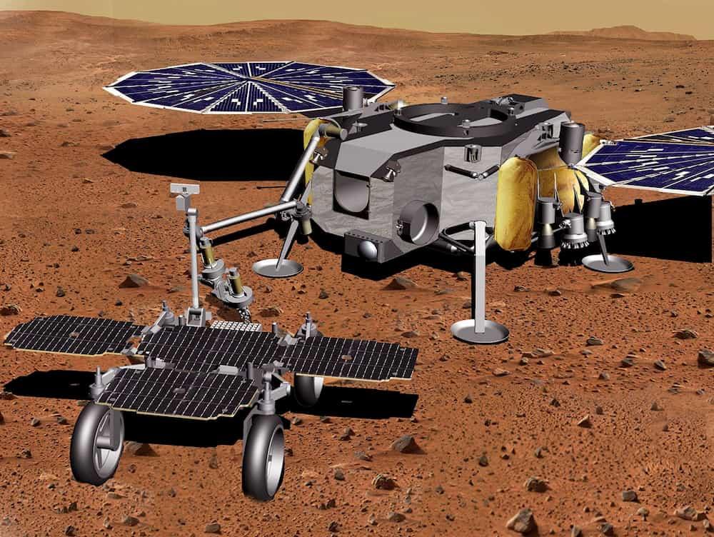 Sample Fetch rover y Sample Retrieval Lander – NASA JPL Caltech