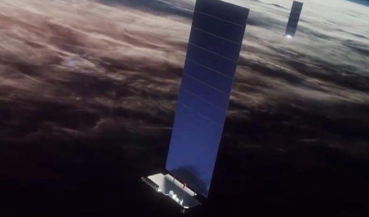 Impresión artística de satélites Starlink en órbita – SpaceX