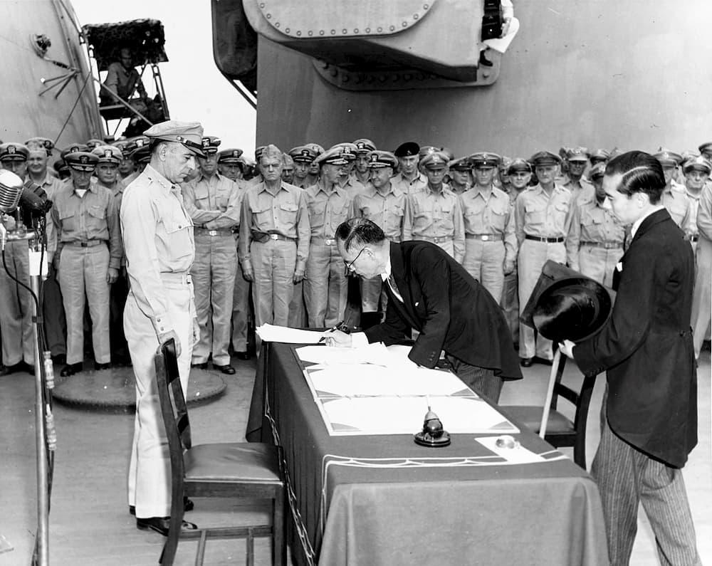 Firma de la rendición - Ejército de los Estados Unidos