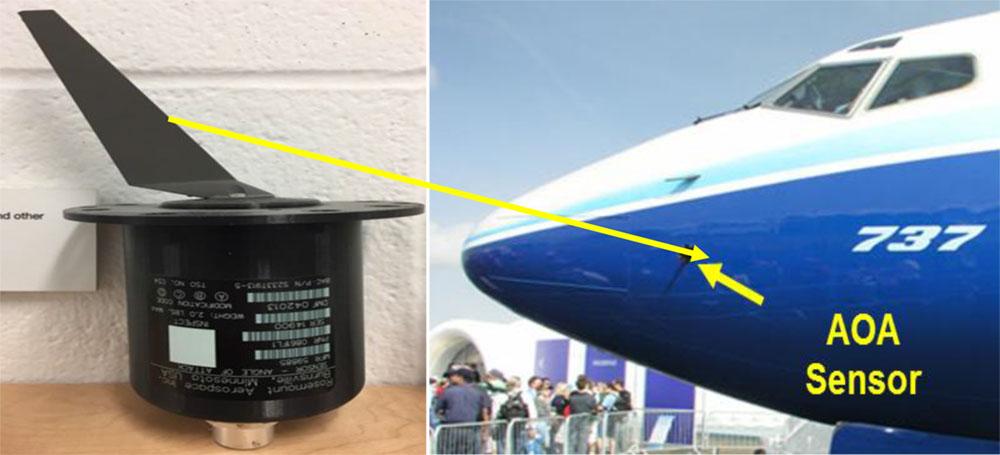 Sensores de ángulo de ataque del 737