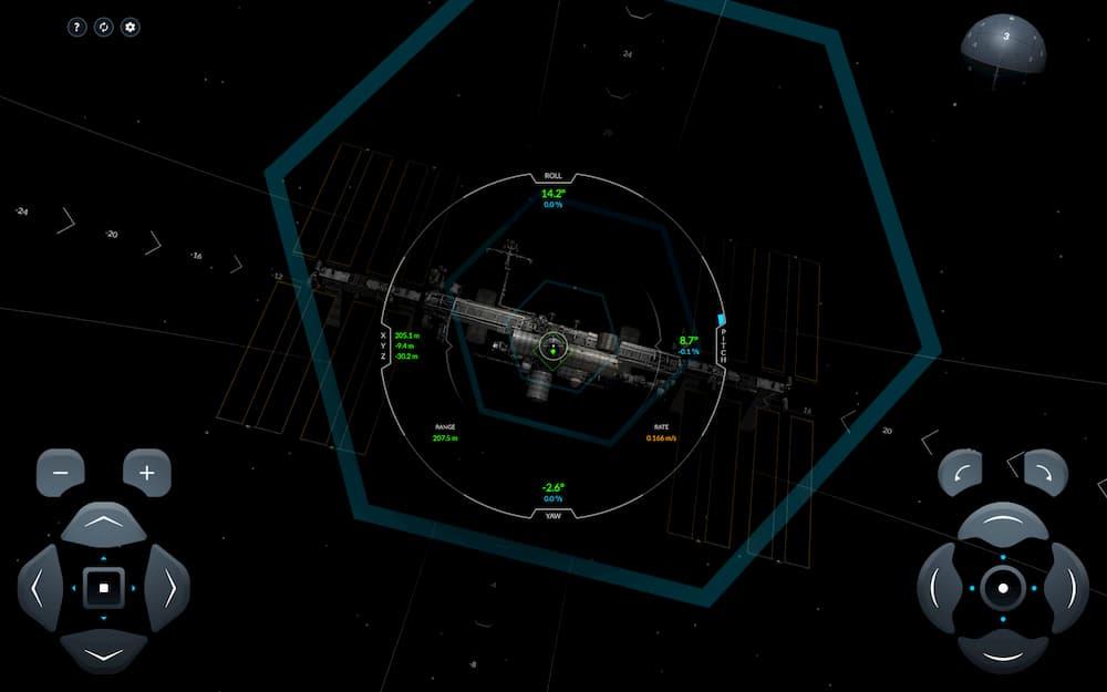 Simulador de atraque en la EEI – SpaceX