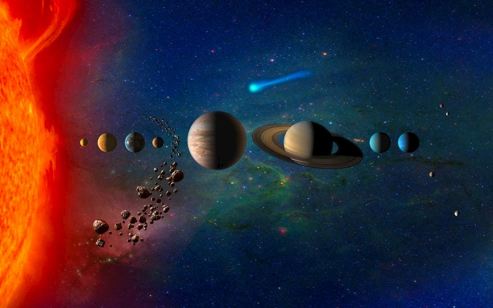 Impresión muy artística del sistema solar - NASA