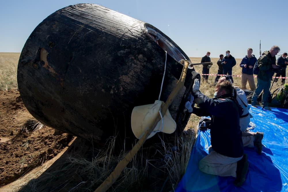 La Soyuz MS-15 en tierra – NASA/GCTC/Andrey Shelepin