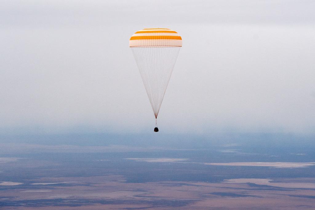 La Soyuz MS-16 a punto de aterrizar - NASA