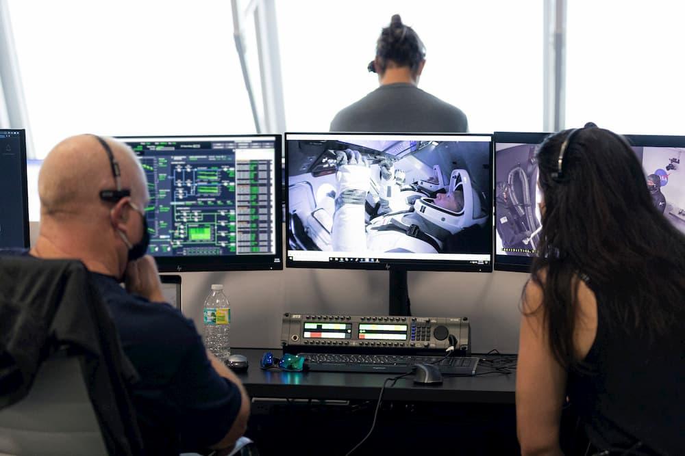 La vista desde la sala de control – SpaceX