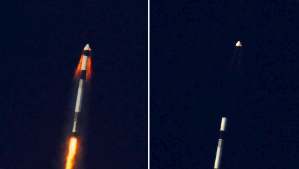 Separación de la cápsula - SpaceX